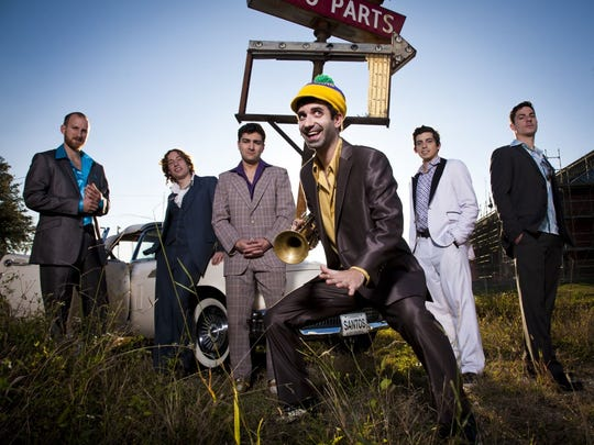 New Orleans funk band Flow Tribe performs at the Live