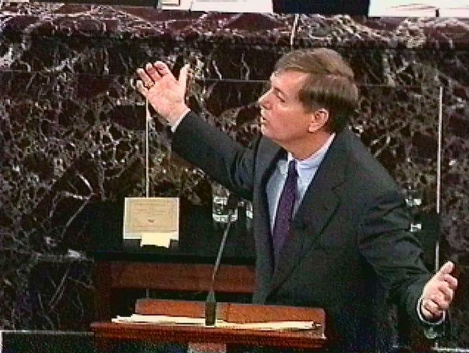 Then-congressman Lindsey Graham, R-S.C., shown in this