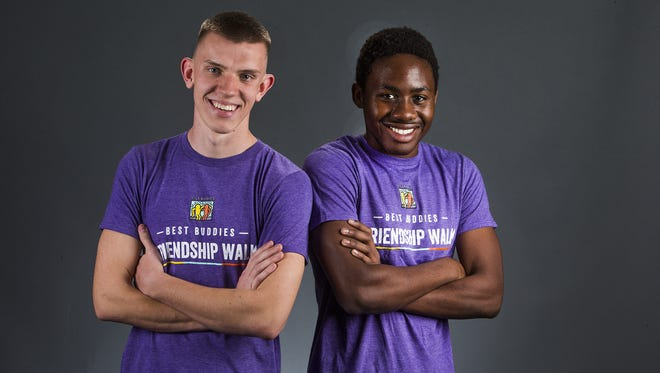 Avondale Westview High School students Frank Minichiello, 16, left, and Andrew Coke, 17, are finalists for the fall season of the azcentral.com Sports Awards Unsung Hero of the Year Award, presented by Morehart Air Conditioning and Heating.