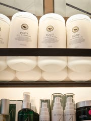 This Wednesday, April 27, 2016, photo shows a display of products, including Body Inner Beauty Powder, sold at CAP Beauty, a wellness store with an all-things-natural approach, in New York's West Village.