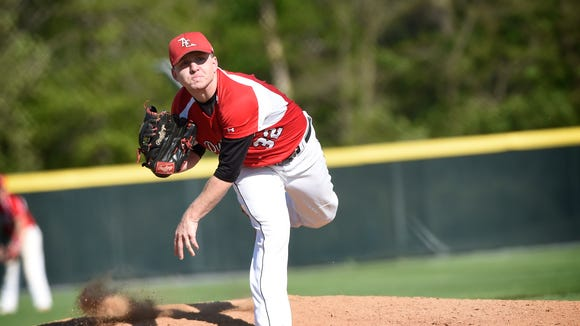 Annville Cleona's Mitch Long was called upon to start the Little Dutchmen's league playoff opener and could toe the rubber again in their first district game on Wednesday.