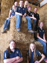 Kiel FFA Chapter officers posed for an officer  picture