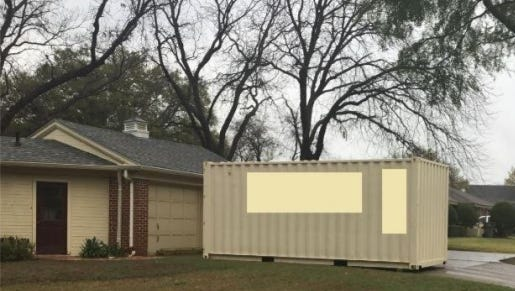 An example is shown of a temporary storage unit at a residence. Complaints have prompted city council to consider an ordinance regulating use of these units.