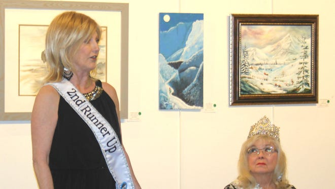 Second runner-up Sharon Gosdis presented at the Mesquite Fine Arts Gallery, calling women in the area to become contestants in the 2016 pageant. Reigning Ms. Mesquite Loretta Green also presented at the Brown Bag Lecture on Tuesday, Jan. 5, 2016.