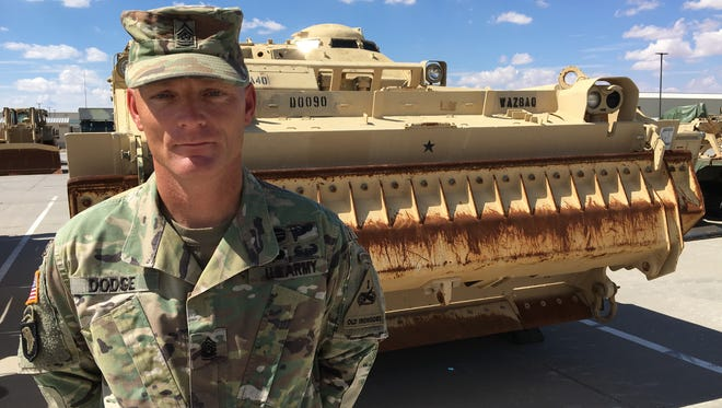 Command Sgt. Maj. Jason Dodge has been the senior enlisted leader for the 2nd Engineer Battalion since December 2015. He will relinquish the position Aug. 22.