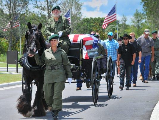 MILITARY FUNERAL U.S. ARMY VET EUGENE JESENSKY