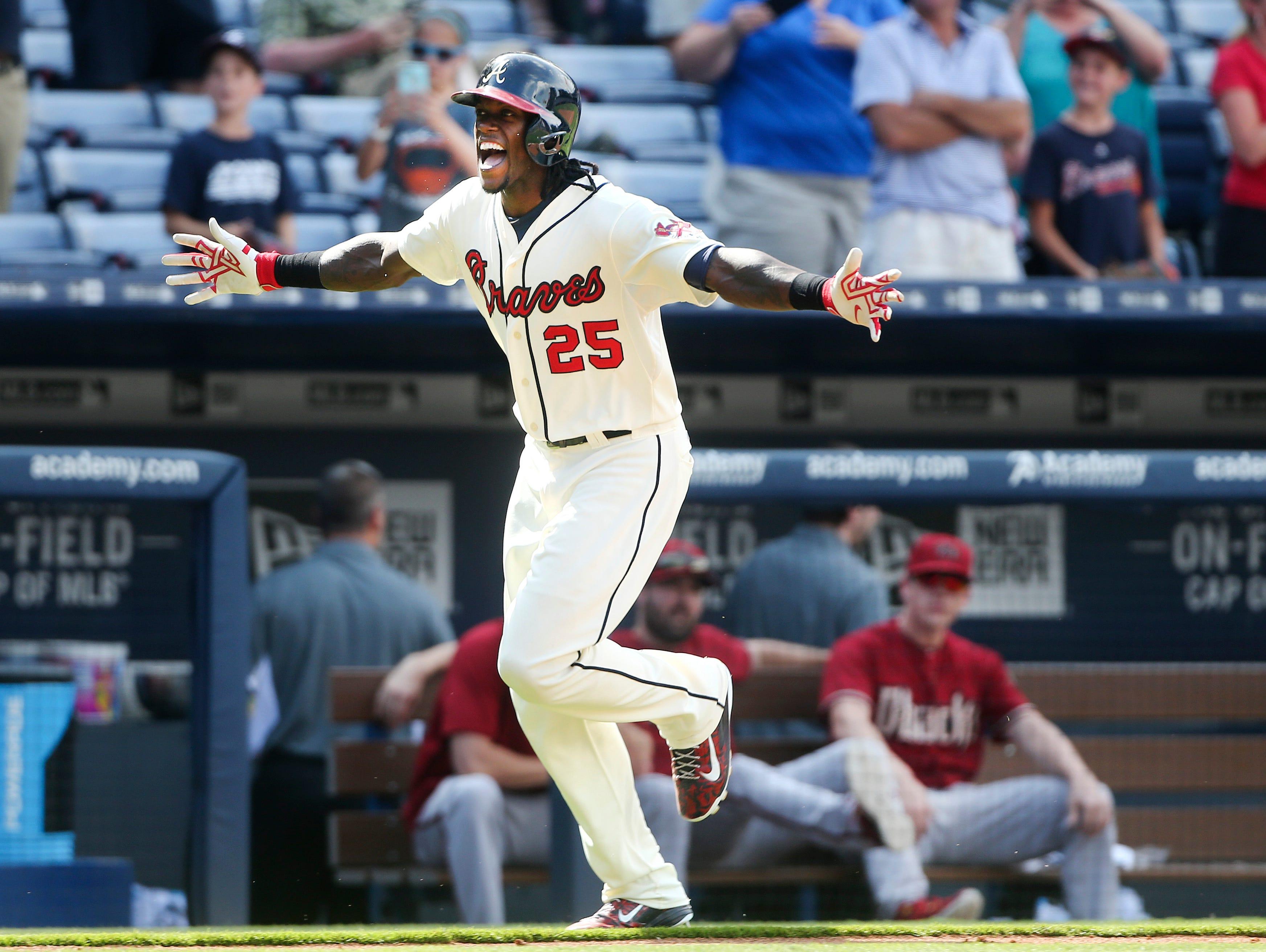 Atlanta Braves outfielder Cameron Maybin is a 2005 Roberson graduate.