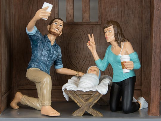 This is not your father's Joseph, Mary and Baby Jesus.