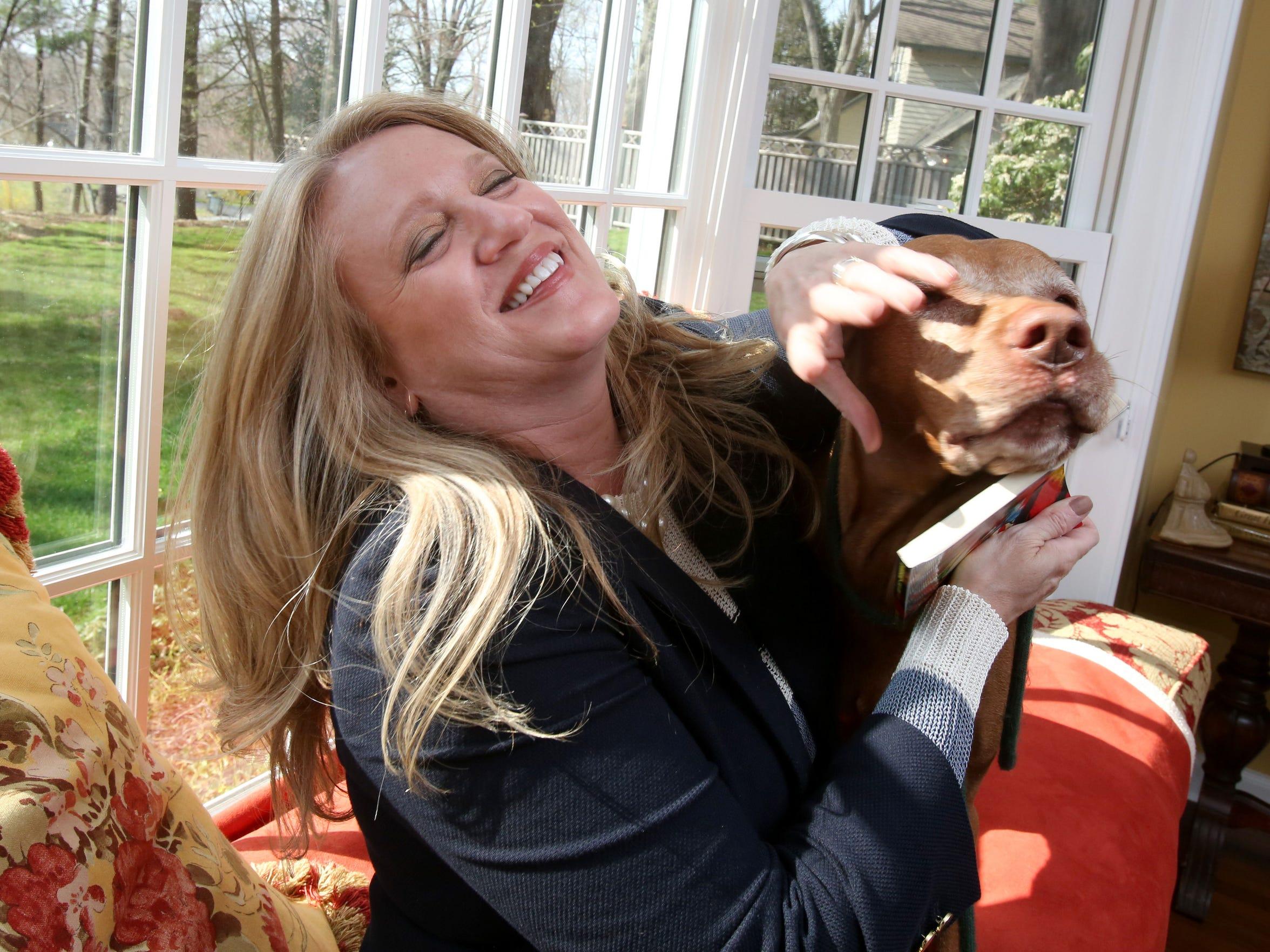 Janine Crowley Haynes at her Chappaqua home April 21,