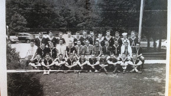 Gary Reeling shared this photo of Boy Scout Camp Tuckahoe taken in 1956. He is pictured at the front right.