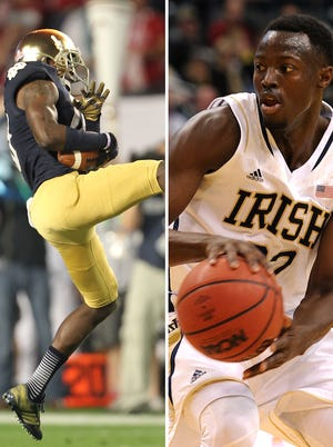 Notre Dame athletes DaVaris Daniels (left) and Jerian Grant (right) have been readmitted after being suspended for the spring semester for undisclosed academic violations.