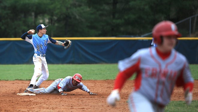 The Enka and Erwin baseball teams met previously on March 20 in Candler.
