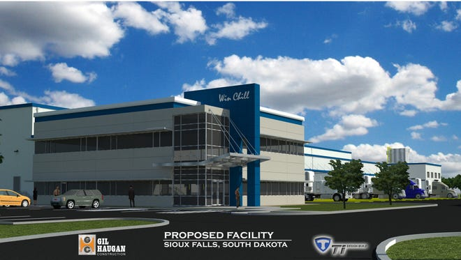 The first tenant at Foundation Park in northern Sioux Falls will be a refrigerated warehouse.