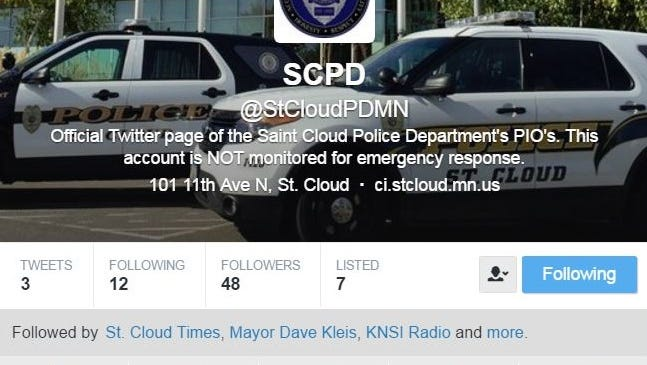 St. Cloud Police Department's Twitter page.