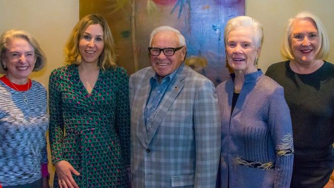 (L-R) Karlene Garber, author Pamela Paul, Dick Garber, Carlyn Stonehill, and Nancy Cunningham.