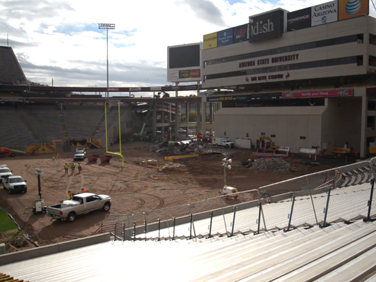 A current view of the Sun Devil Stadium south end zone.