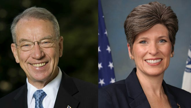 Sen. Chuck Grassley and Sen. Joni Ernst