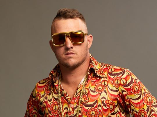 Mike Trout Shooting Disco Battle -- credit to BODYARMOR