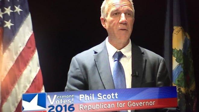 Phil Scott at the Vermont NEA debate on Aug 22 2016