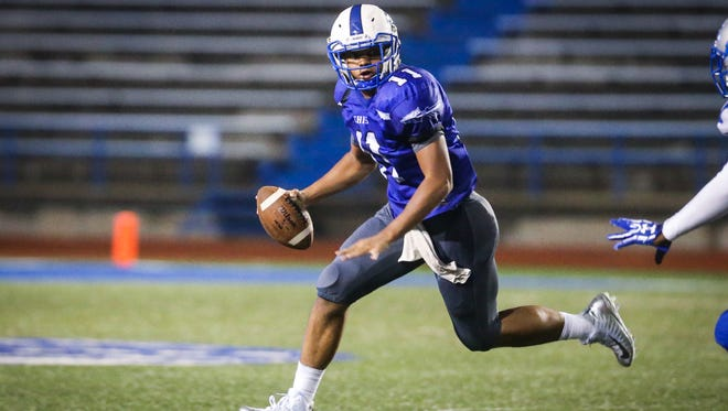 Lake View quarterback Kendall Blue threw for 340 yards and four touchdowns -- and rushed for a pair of scores -- in the Chiefs' 47-42 loss to Lamesa last week.