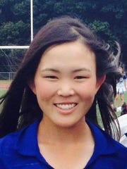 Anna Vento is captain of Stevenson's girls golf team, but also president of the National Honor Society.