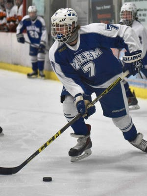 Salem junior forward Jake Saunders had two goals and two assists in a 5-1 win over Northville.