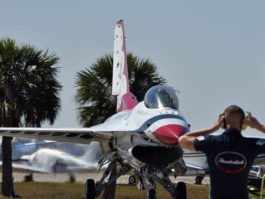 The U.S. Air Force Thunderbirds arrived on Thursday