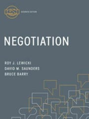 Negotiation by Roy Lewicki, David Saunders and Bruce
