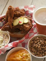 A look at a dish of hot chicken at Hattie B's Hot Chicken