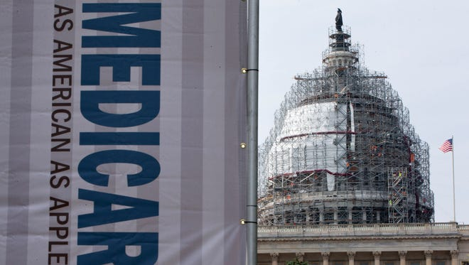A sign on Capitol Hill in 2015 supporting Medicare.