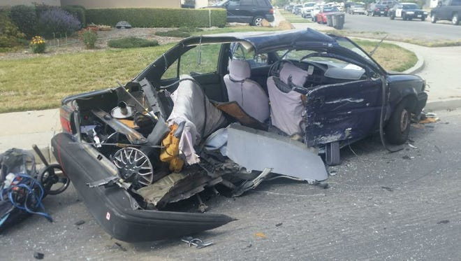 Both vehicle were totaled in the collision.