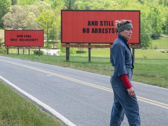 Frances McDormand stars as an ornery mother out for justice in the darkly comic drama 'Three Billboards Outside Ebbing, Missouri.'