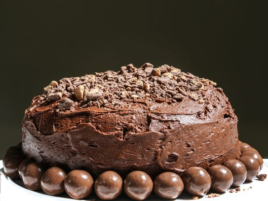 This Chocolate Malt Cake is rich with malt powder and