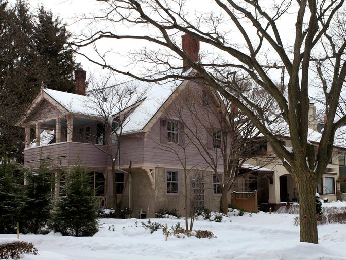 The Ashley House, a Claude Bragdon-designed home at 24 Hawthorne St. in Rochester, is up for sale. It is  is situated directly behind the Frank Lloyd Wright-designed home on East Boulevard.