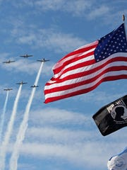 The Cincinnati War Birds provided a flyover tribute on Veterans Day.