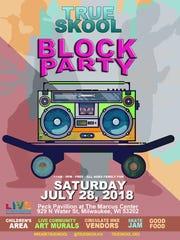 TRUE SKool's Summer Block Party is Saturday.