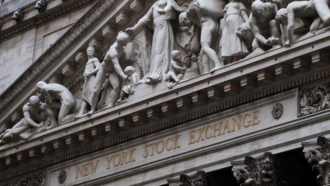 The New York Stock Exchange building in New York.