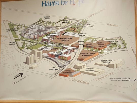 A map of the Haven for Hope campus in San Antonio.