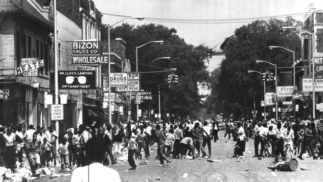 The intersection of 12th and Clairmount was the epicenter of the 1967 civil disturbance. After five days of looting, arson and violence, businesses began to vanish from the block, and none replaced them.
