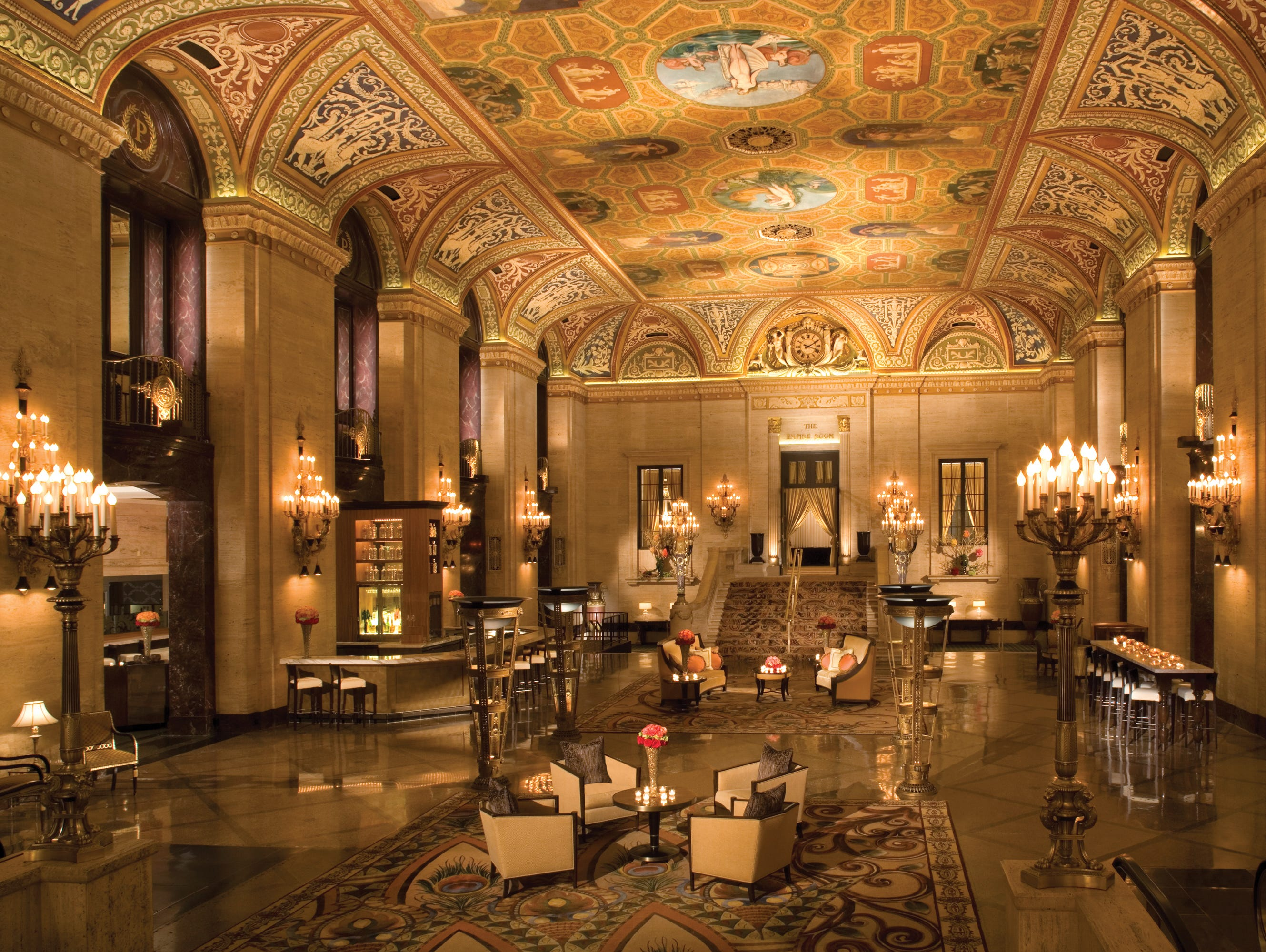 Chicago's Palmer House Hilton hotel's historic, turn-of-the-century charm and ambiance have been carefully restored and preserved.