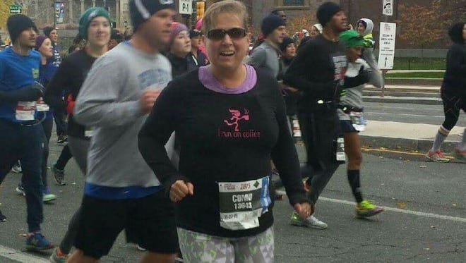 Conni Miller of Greencastle has reached her 800th consecutive day of running at least one mile.