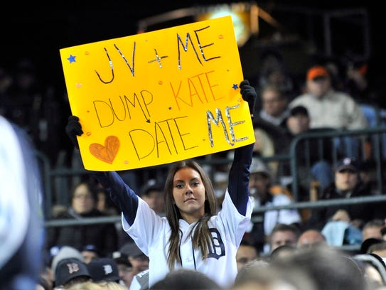A Detroit Tigers fan has high hopes for her future