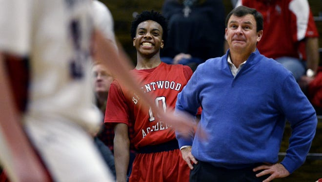 Brentwood Academy's Darius Garland (10) will announce his college decision on Monday afternoon.