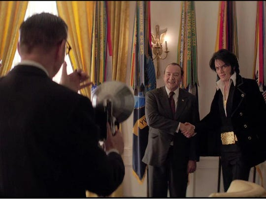 """The actual photo of President Nixon with Elvis Presley in the White House inspired the comedy """"Elvis and Nixon"""" with Kevin Spacey and Michael Shannon."""