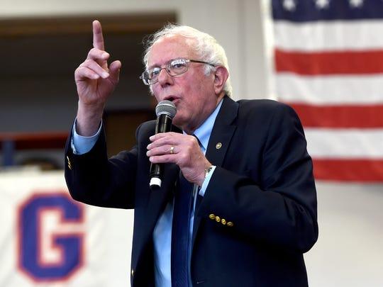 Vermont Sen. Bernie Sanders, Hillary Clinton's rival