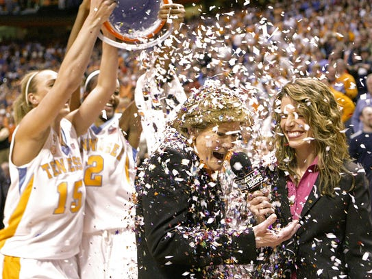 In this Feb. 5, 2009, file photo, Tennessee coach Pat
