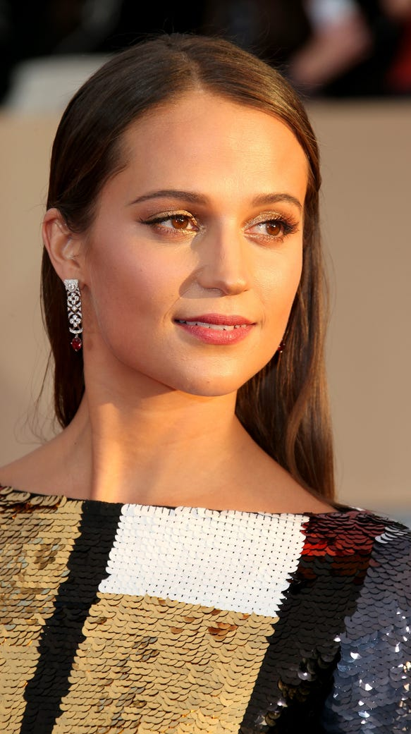 Actress Alicia Vikander attends the 22nd Annual Screen