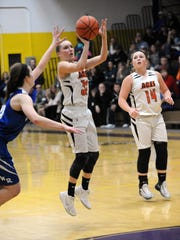 Amanda-Clearcreek senior guard Alyssa Evans is closing in on the Aces' all-time career scoring record.