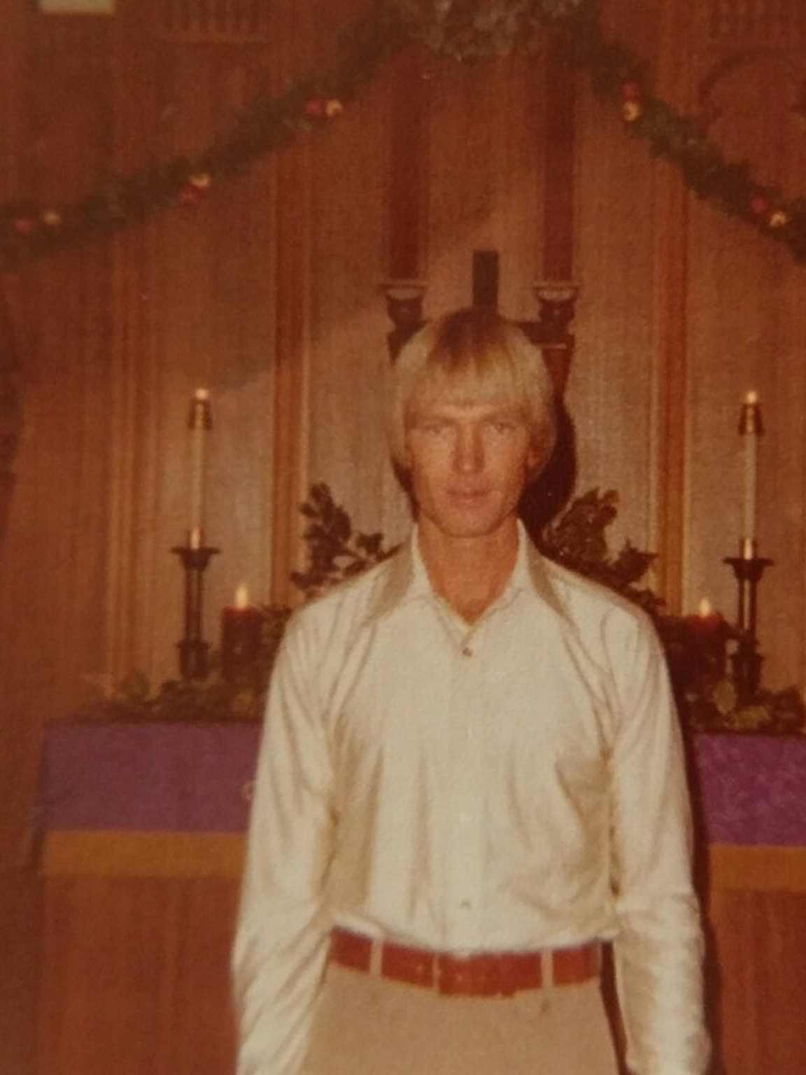 A Dec. 24, 1977, photograph of Felix Vail when he married