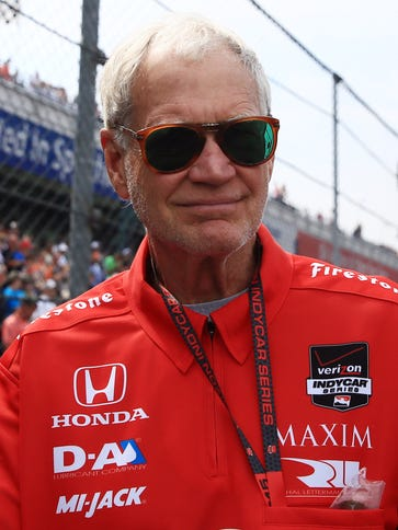 IndyCar Series owner David Letterman before the 2015